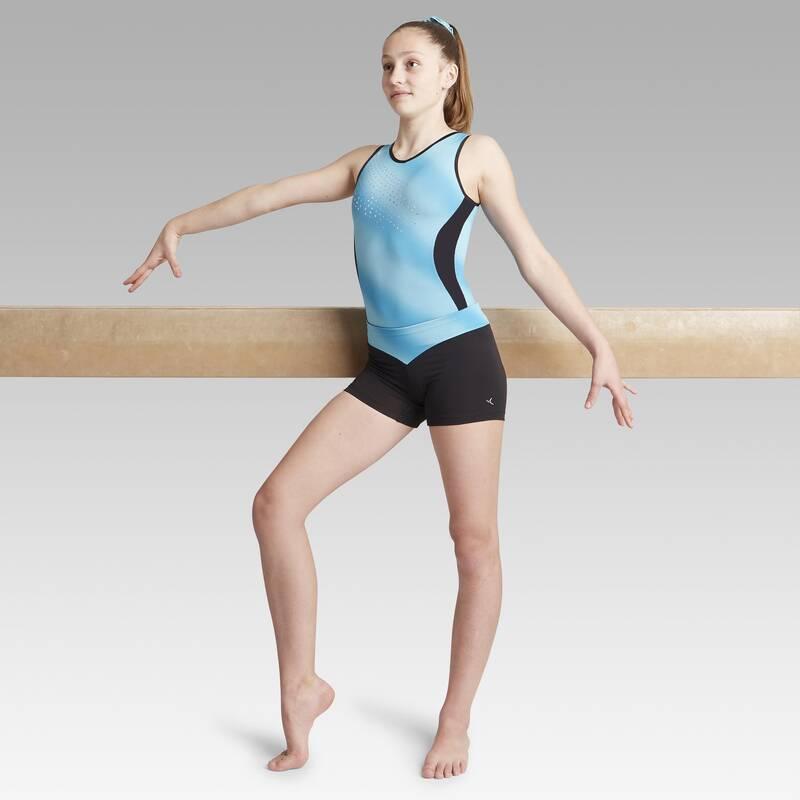 DĚTSKÉ TRIKOTY, OBLEČENÍ NA TANEC Gymnastika - KRAŤASY 500 NA GYMNASTIKU DOMYOS - Gymnastické oblečení
