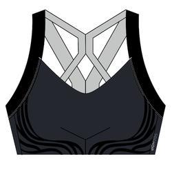 Women's Cardio Fitness Sports Bra 520 - Navy Blue