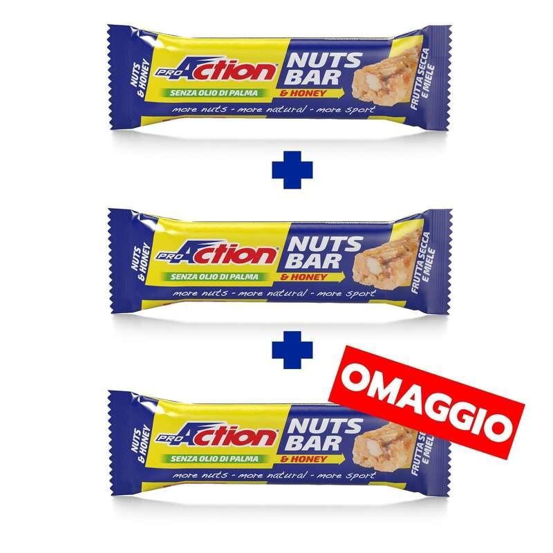 BARRETTE, GEL E RECUPERO Alimentazione - Nuts bar miele pack 2+1 PROACTION - Alimentazione