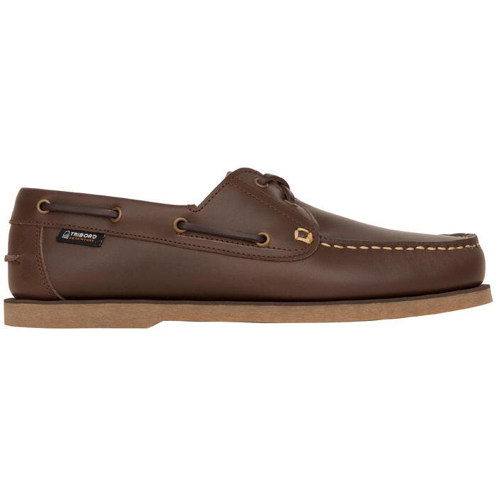 Zapatos Náuticos Sailing 500 Adulto Marrón Oscuro