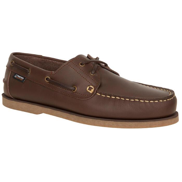 Chaussures de bateau SAILING 500 Marron foncé