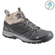 Men's Hiking Shoes WATERPROOF (Mid Ankle) NH150 - Black