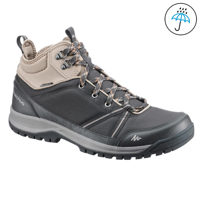4e017df3f2a Men's Hiking Shoes NH150 (Mid Ankle) Waterproof - Black