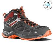 Men's Hiking Shoes (Mid Ankle) MH100 Waterproof - Grey/Orange