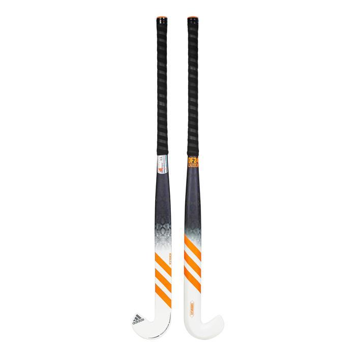 Stick de hockey sur gazon adulte expert extraLB 90% carbone DF24Carbone orange