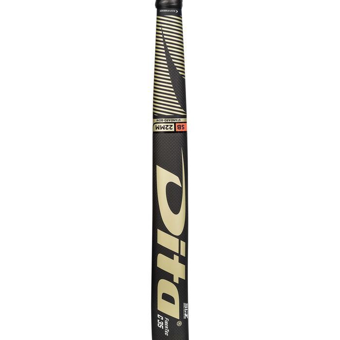 Hockeystick voor volwassenen gevorderd mid bow 35% carbon FibTec C35 goud