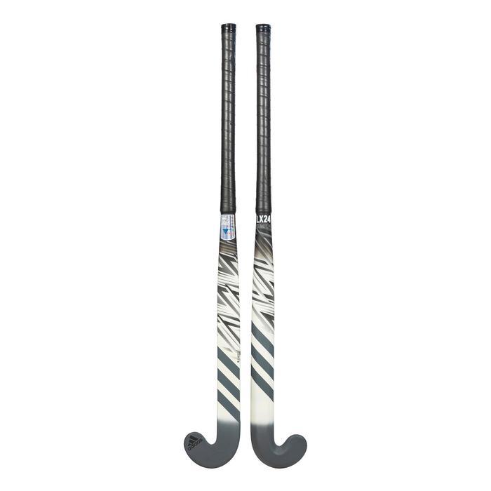 Stick de hockey sur gazon adulte confirmé lowbow 20% carbone LX24Compo4 blanc