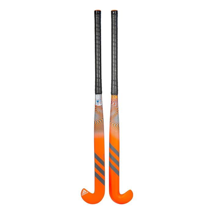Hockeystick voor volwassenen gevorderde Xlowbow 20% carbon TX24 Compo4 oranje