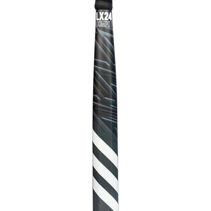 Hockeystick voor volwassenen expert low bow 70% carbon LX24 Compo1 zwart