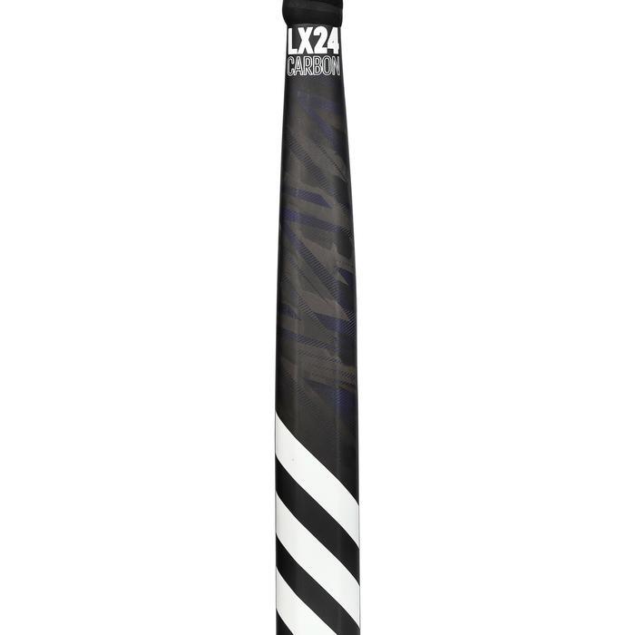 Hockeystick voor volwassenen expert low bow 90% carbon LX24Carbone zwart