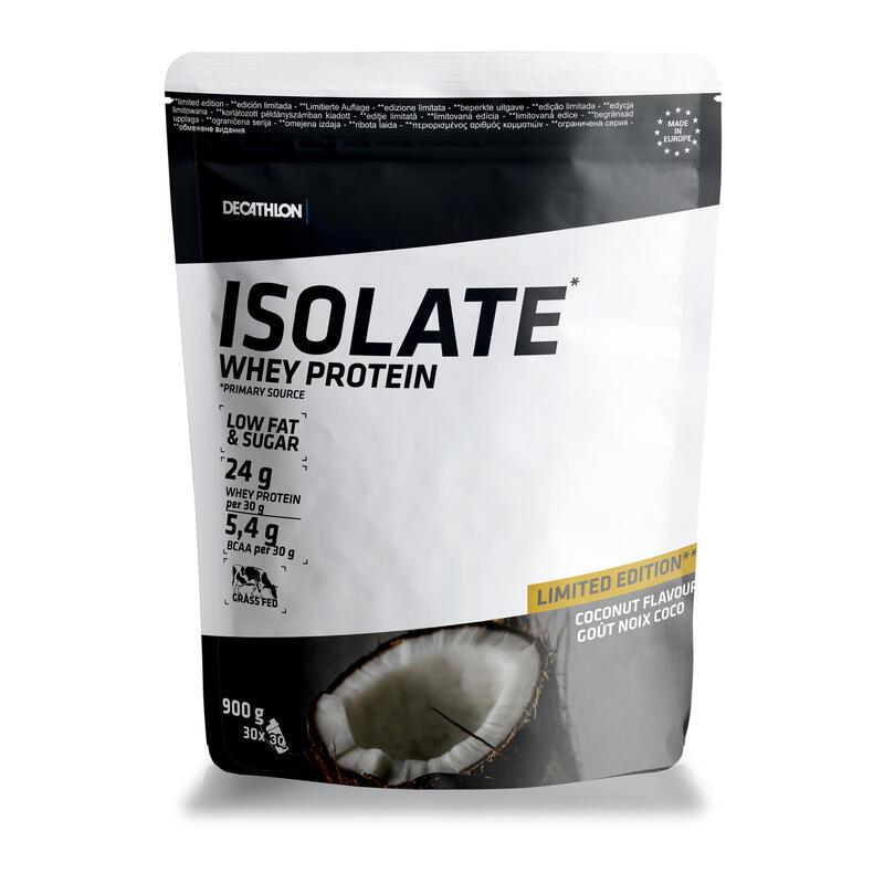 PROTEINA WHEY ISOLATE 24 g suero de leche sabor COCO 900 g