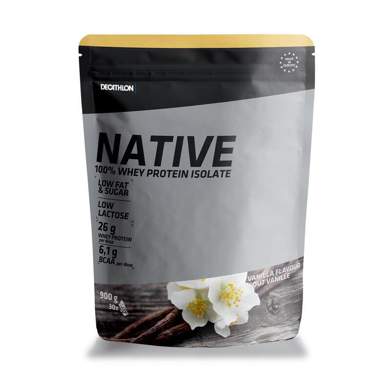 Native whey-eiwitten vanille 900 g
