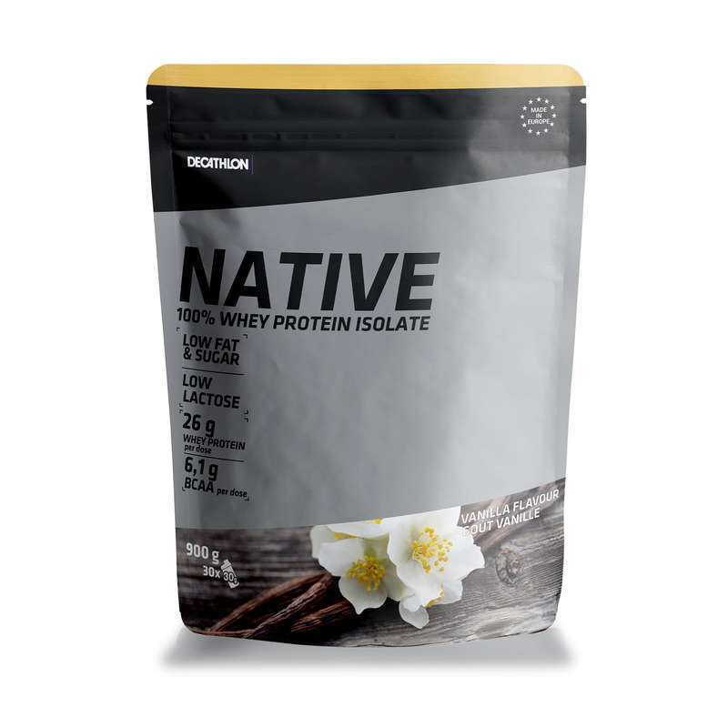 PROTEINE ȘI SUPLIMENTE ALIMENTARE Fitness Cardio, Bodybuilding, Crosstraining, Pilates - Proteine WHEY NATIVE 900G DOMYOS - Proteine si suplimente alimentare