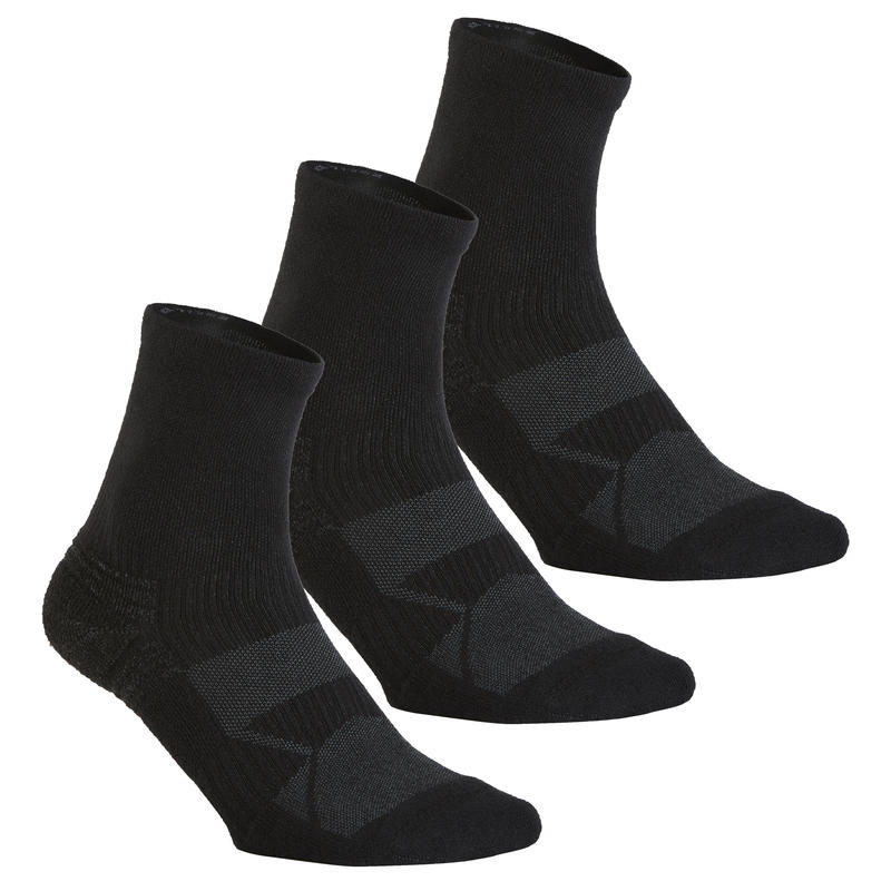 WS 100 Mid Fitness/Nordic walking socks - black 3 pairs