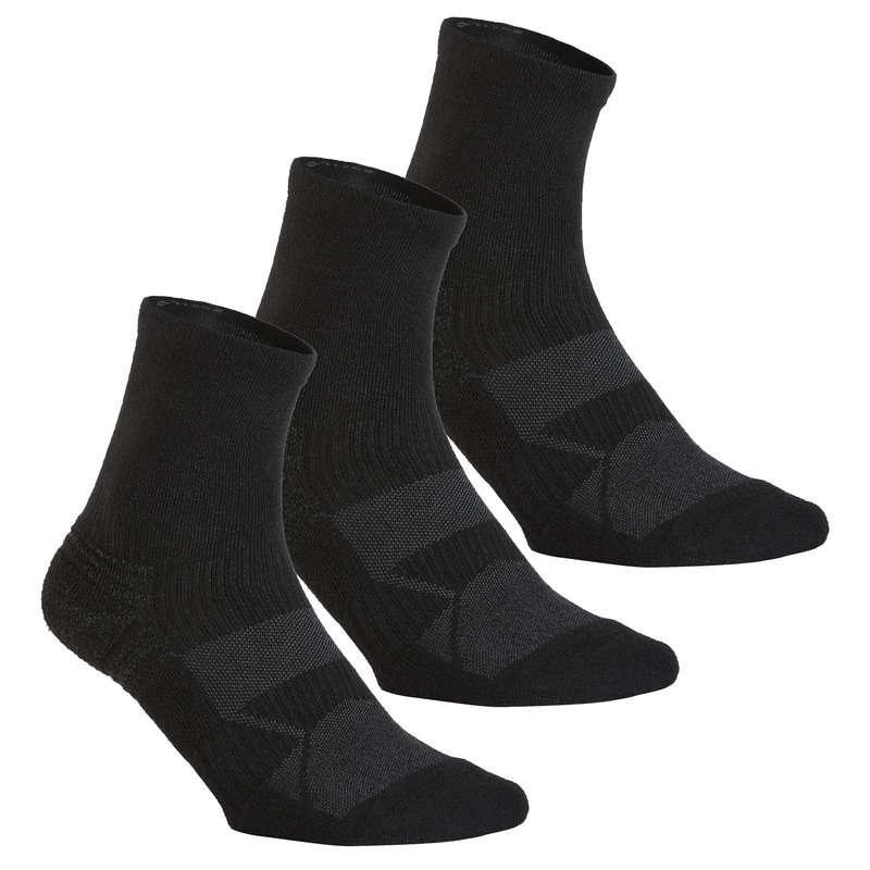 SPORTGYALOGLÓ ZOKNI - Gyalogló zokni WS 100, fekete NEWFEEL