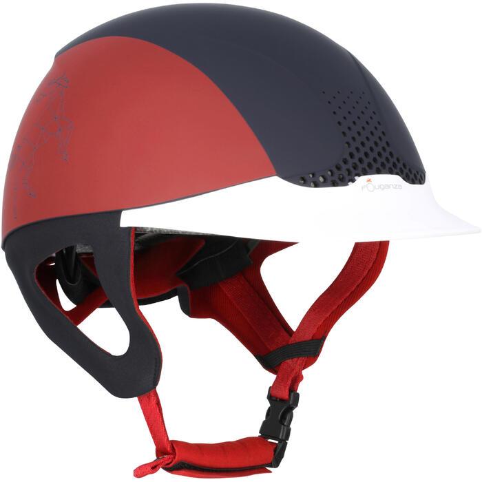 Casque équitation SAFETY CABRIOLE rouge et - 170377