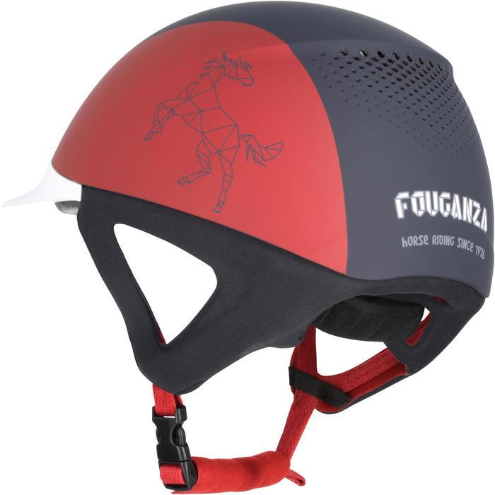 Casque équitation SAFETY CABRIOLE rouge et - 170378