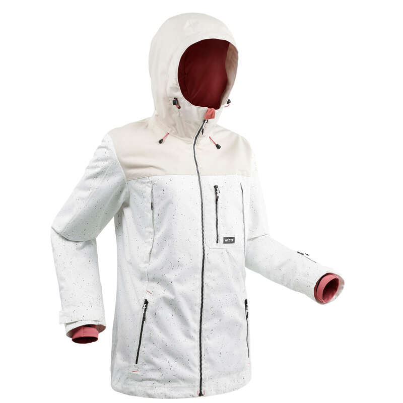 WOMEN INTERMEDIATE SNOWBOARD EQUIPMENT Clothing - Women's SNB JKT 500 AO - White WEDZE - Jackets and Coats