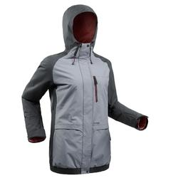Chaqueta de snowboard y nieve, Wed'ze JKT 100, Impermeable, Mujer, Gris