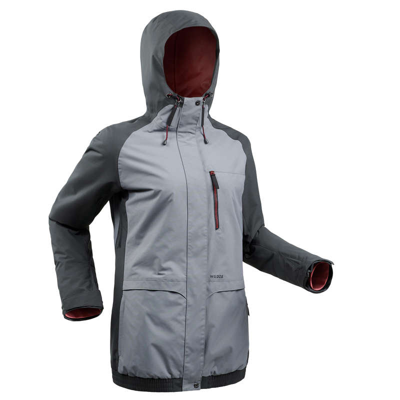 WOMEN BEGINNER SNOWBOARD EQUIPMENT Clothing - Women's SNB JKT 100 - Grey WEDZE - Jackets and Coats