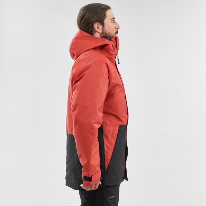 男款單/雙板滑雪外套SNB JKT 100 - 磚紅色