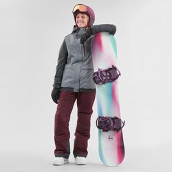 Pantalon de planche à neige (et de ski) femme SNB PA 100 Bordeau