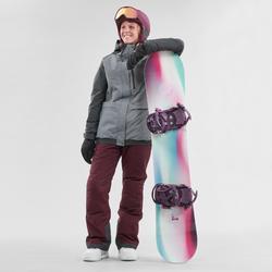 Snowboardhose Skihose SNB 100 Damen bordeaux