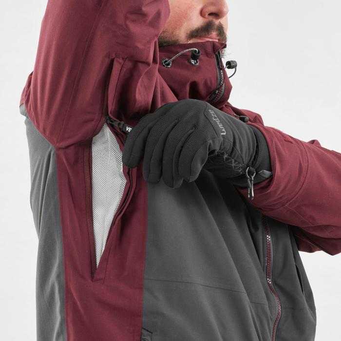 Men's Snowboarding and skiing jacket SNB JKT 500 - Burgundy