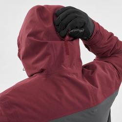 男款單/雙板滑雪外套SNB JKT 500酒紅色