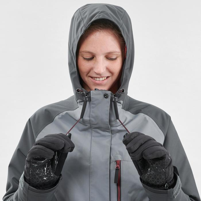 Chaqueta de snowboard y nieve, Wed'ze SNB 100, Impermeable, Mujer, Gris