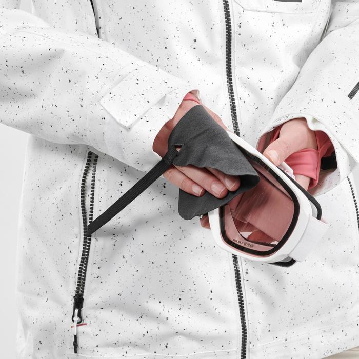 Snowboard- en ski-jas voor dames SNB JKT 500 allover wit