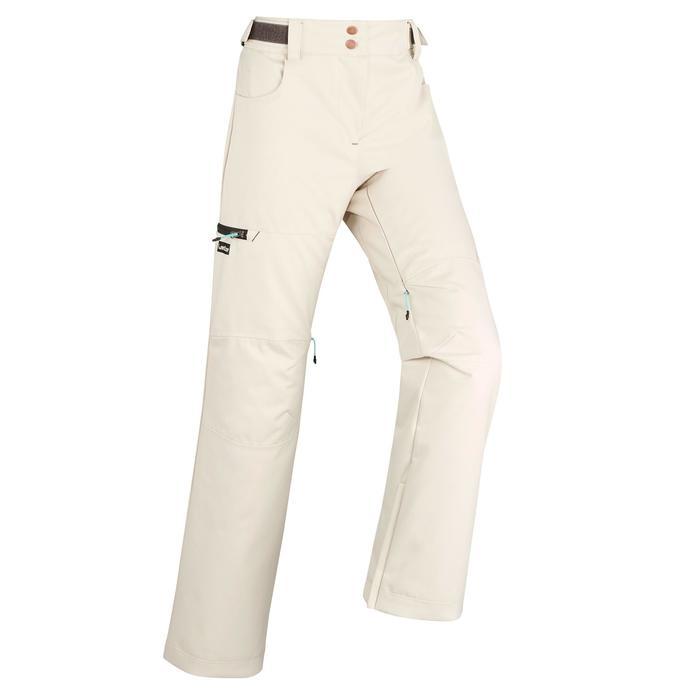 女款單/雙板滑雪長褲SNB PA 500亞麻灰