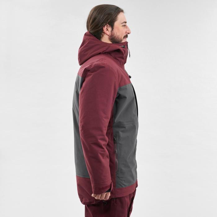 Men's Snowboarding (and skiing) jacket SNB JKT 500 - Burgundy