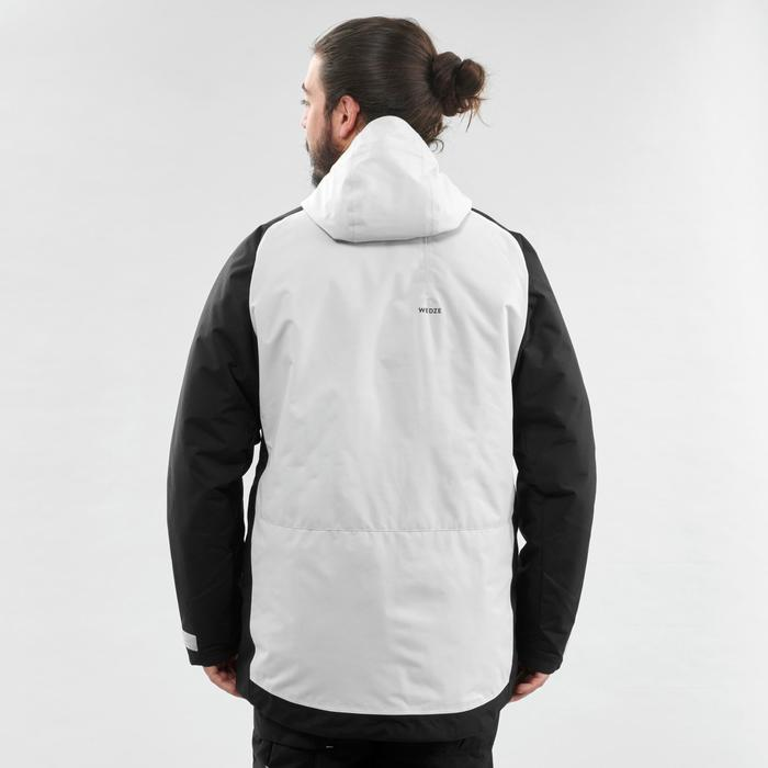 Men's Snowboarding (and skiing) jacket SNB JKT 100 - Grey