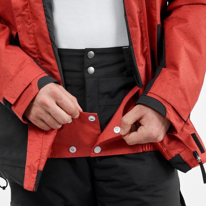 Snowboard- en ski-jas voor heren SNB JKT 100 baksteenrood