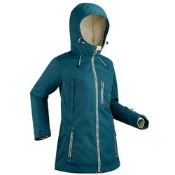 Chaqueta de Snowboard y Nieve, Wed'ze Snb Jkt 500, Impermeable, Mujer, Turquesa