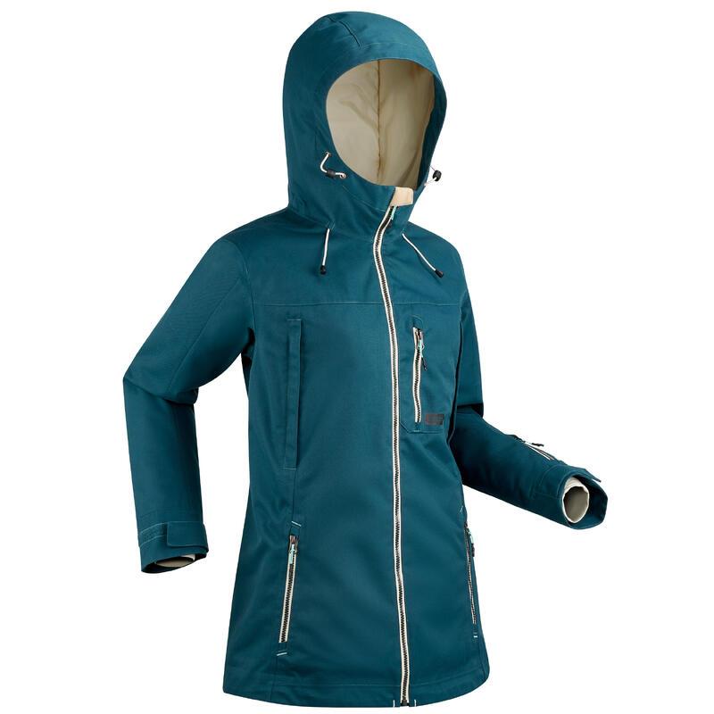 Women's Snowboarding (And Skiing) Jacket - Dark Petrol