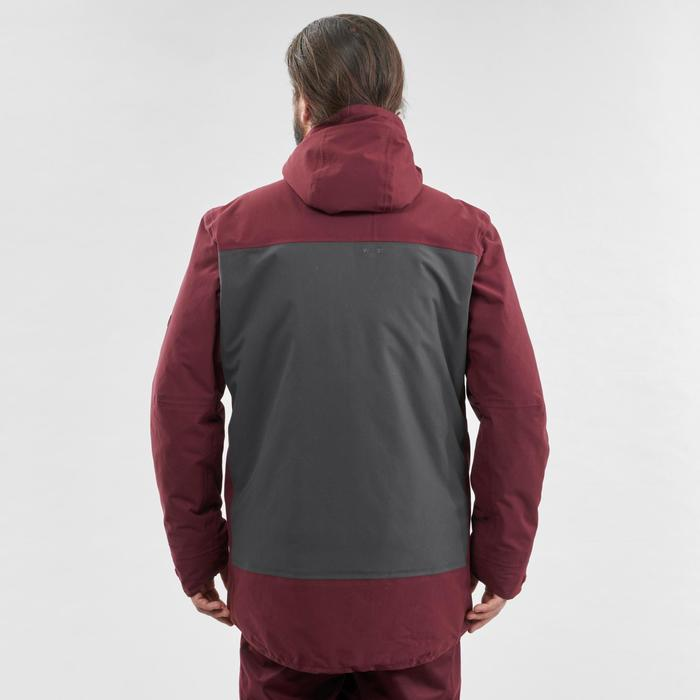 Men's Snowboarding and skiing jacket SNB JKT 500 - Burgundy