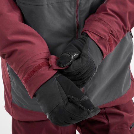 Men's Ski and Snowboard Jacket SNB JKT 500 Burgundy