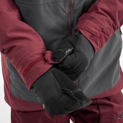 男款單/雙板滑雪外套SNB JKT 500 - 酒紅色