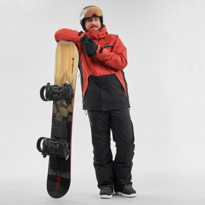 Snowboardjacke Skijacke SNB 100 Herren ziegelrot