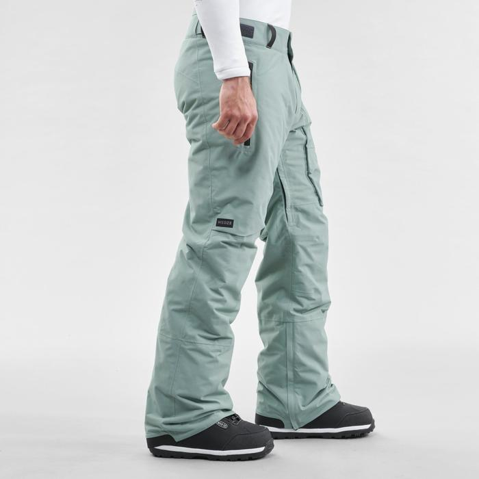 Men's Ski and Snowboard trousers SNB PA 500 - Green