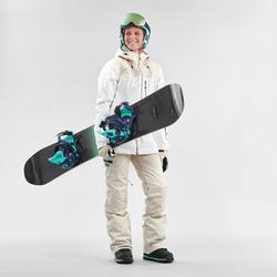 Snowboardjacke Skijacke SNB 500 Damen Allover weiß