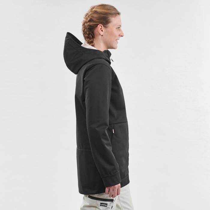 Hoodie de Snowboard (et de ski) Femme SNB HDY Noir