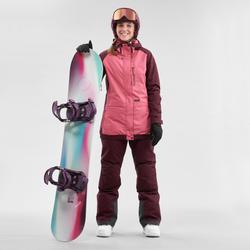 Pantalon de snowboard (et de ski) femme SNB PA 100 Bordeau