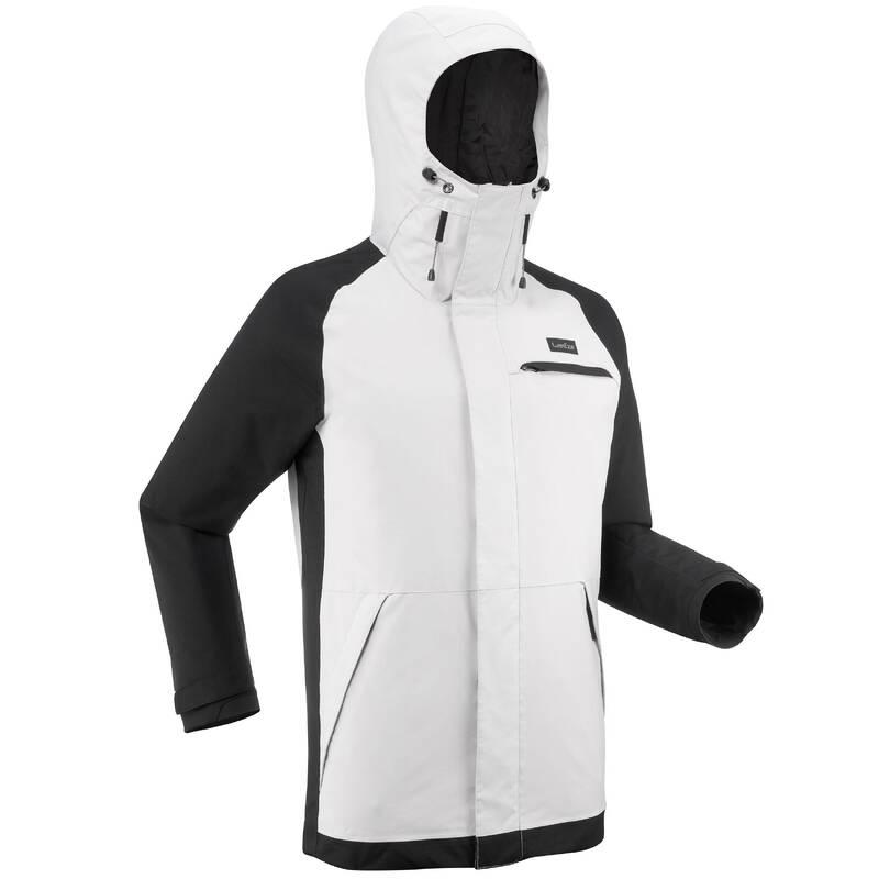 BEGINNER MEN SNOWBOARD EQUIPMENT Snowboarding - SNOWBOARDOVÁ BUNDA 100 ŠEDÁ DREAMSCAPE - Snowboardové oblečení a doplňky