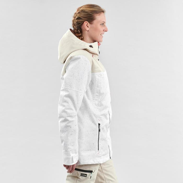 Women's snowboarding (and skiing) jacket SNB JKT 500 - Allover white