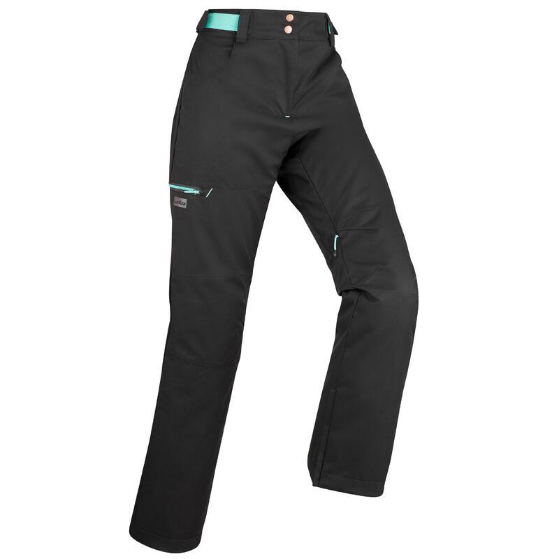 Pantalón snowboard y esquí, dreamscape SNB 500, impermeable, mujer, negro