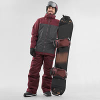 Veste de Snowboard et de ski Homme SNB JKT 500 Bordeau