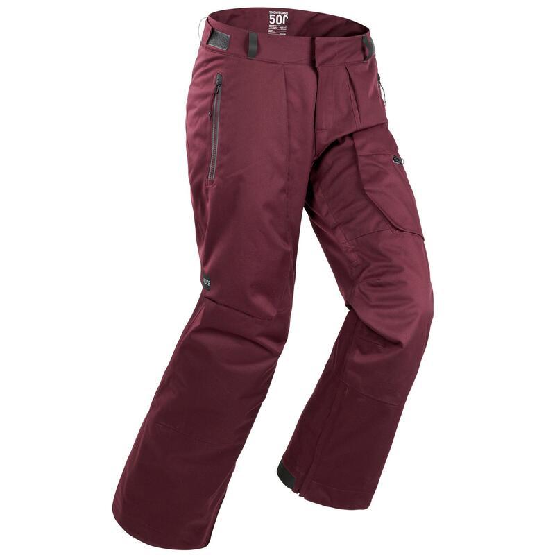 Pantalon ski et pantalon snowboard homme 500 Rouge